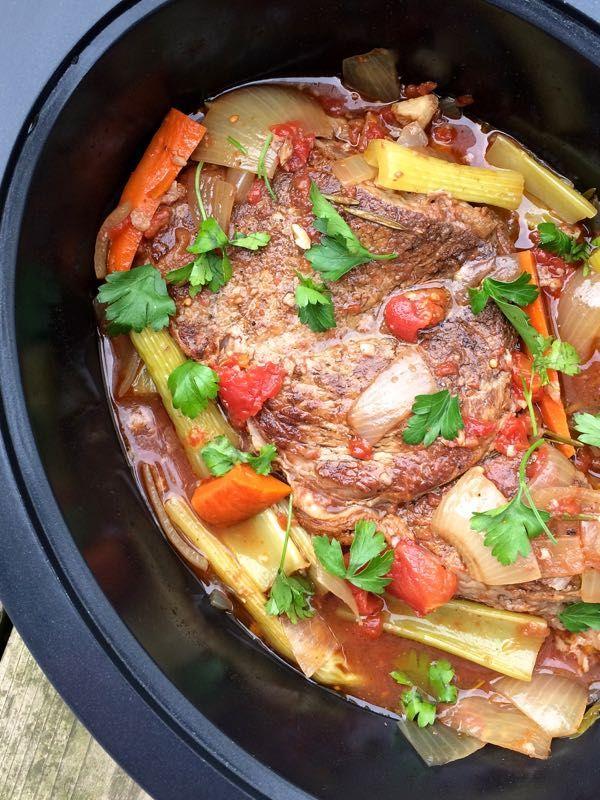 Slow Cooker Italian Pot Roast - The Lemon Bowl