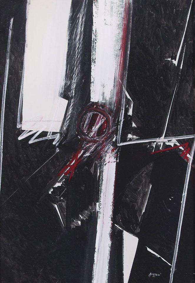Piero Ruggeri (Italian, 1930 - 2009) - Figure with Two White Stripes, 1974