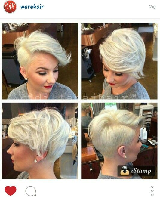 Short hair platinum blonde