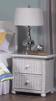Wicker 2 Drawer Nightstand Elana Wicker Bedroom Furnitureoutdoor