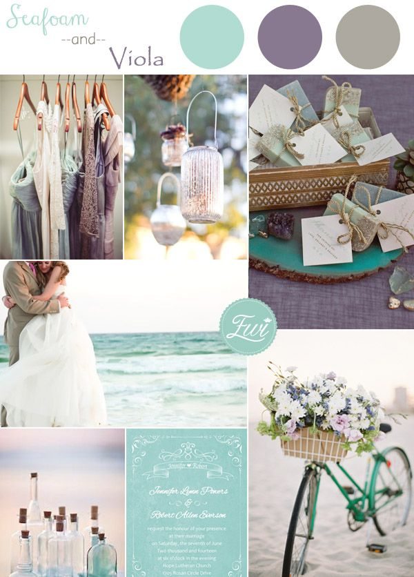 seafoam and viola wedding color ideas and wedding invitations 2015 trends