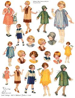 Little Darlings Collage Sheets: Childrens Fashion Illustrations from the 1920's