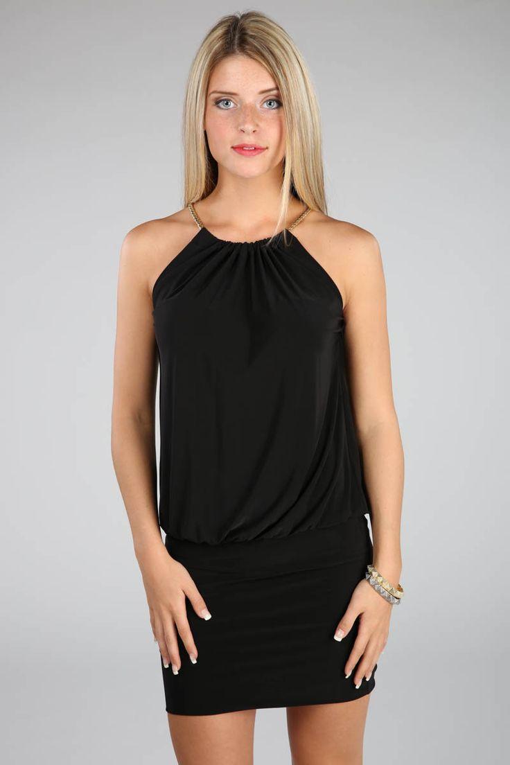 Cut-away Halter Dress