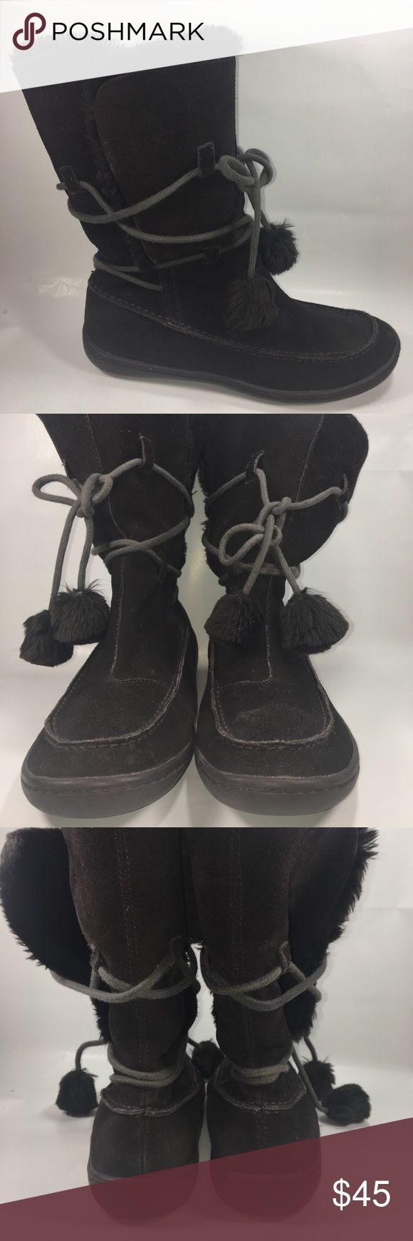 Steve Madden Brown Suede Iglou Winter Boots Size 9 Excellent Condition Some Normal Wear See Pictures. Steve Madden Brown Suede Iglou Faux Fur Winter Boots Size 9 Shoe # S155 Steve Madden Shoes Winter & Rain Boots