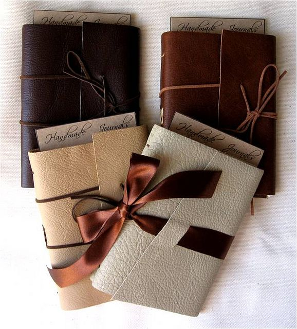 Handmade Leather Bound Journals by VINTAGE craft studio, via Flickr