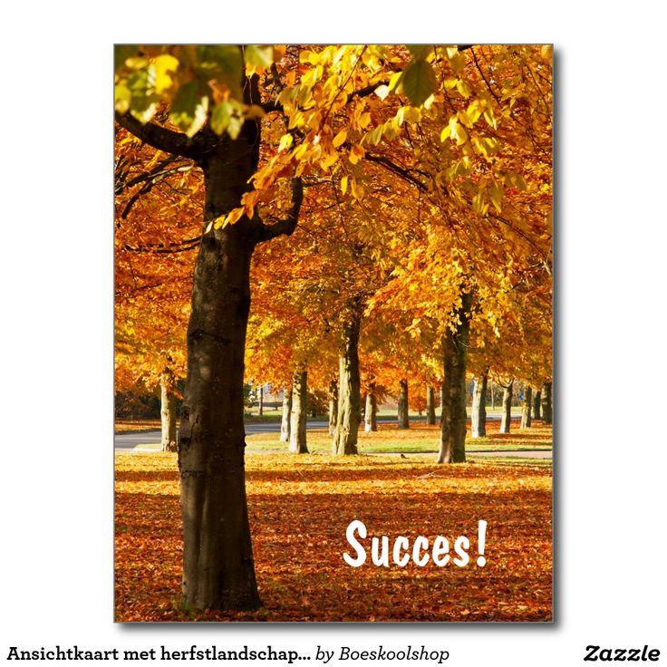 Ansichtkaart c.q. Briefkaart met herfstlandschap in Oldenzaal. Tekst is verwijderbaar c.q. aanpasbaar qua lettertype, kleur, grootte en locatie!