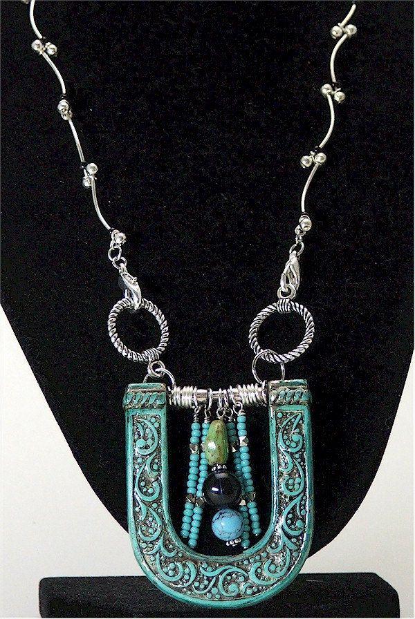 Western buckle repurposed necklace. $45.00, via Etsy.