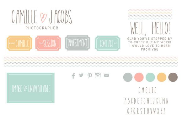Check out Camille Blog Graphics by OnTheSpotStudio on Creative Market