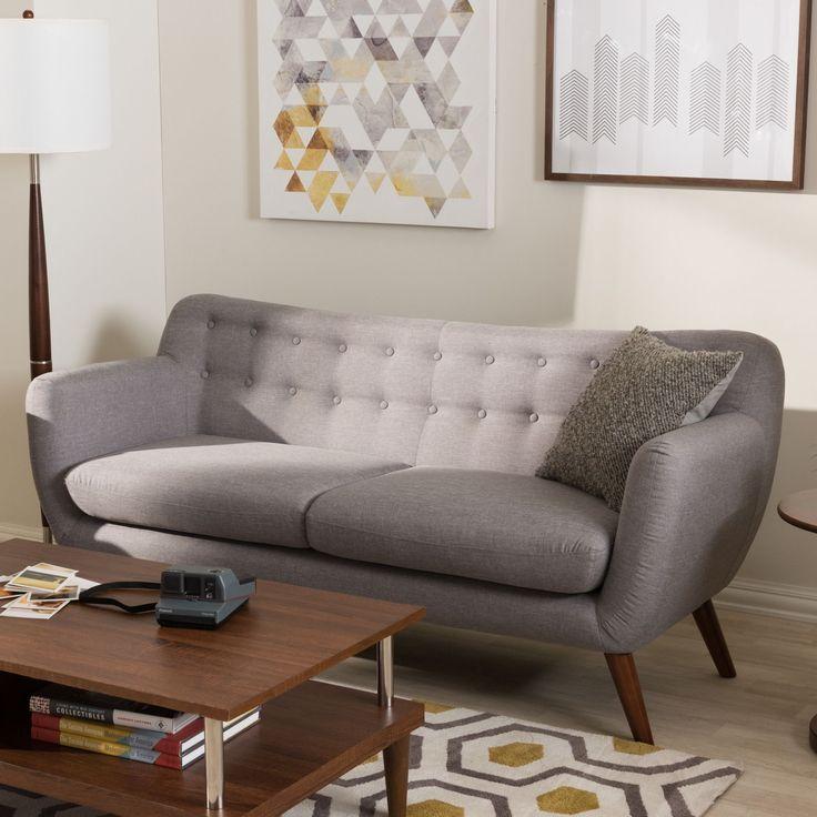 Sectional Sofa Grey Baxton Studio: 17 Best Ideas About Grey Tufted Sofa On Pinterest