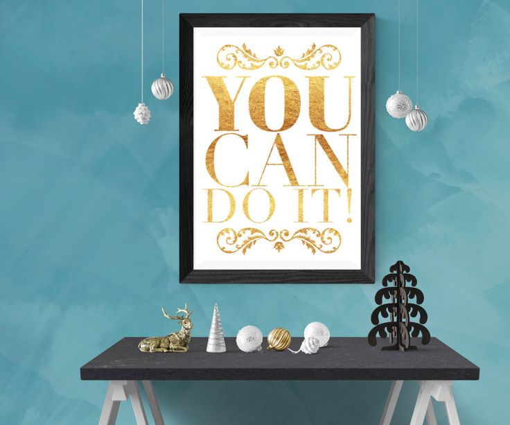 Excited to share the latest addition to my #etsy shop: You Can Do It printable quote art print, instant digital download, kitchen art, dorm, quote canvas, fitness goal, positive, motivational http://etsy.me/2AEqm4X #art #print #digital #gold #printablewallart #printablequote #ins