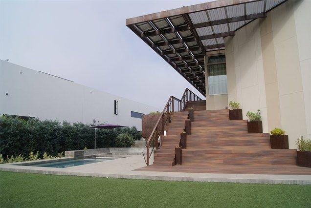 Deck Stairs, Deck Railing Contemporary Landscape Project Z Freedman Landscape Design Venice, CA
