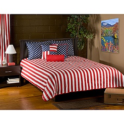 @Overstock - This six-piece Patriot comforter set includes all you need to dress up your bed. Patriotic stars and stripes grace this 100-percent cotton, super soft comforter set.  http://www.overstock.com/Bedding-Bath/Patriot-Red-6-piece-King-Comforter-Set/6470634/product.html?CID=214117 $169.99