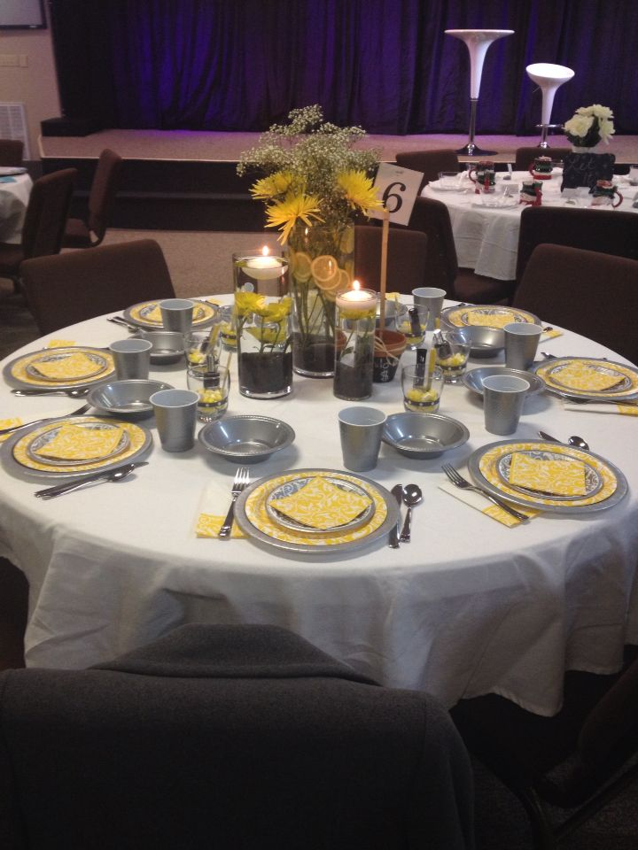 17 best Prayer Breakfast Decor images on Pinterest  Table decorations Centerpiece ideas and