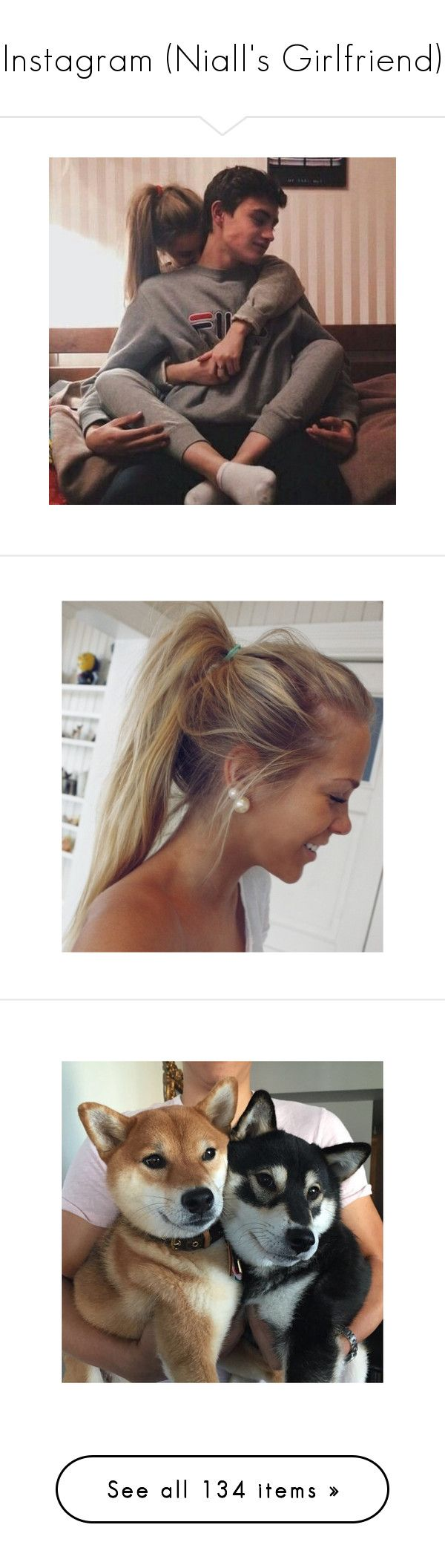 """""""Instagram (Niall's Girlfriend)"""" by cheyenne-stock ❤ liked on Polyvore featuring backgrounds, hair, pictures, hairstyles, hair styles, people, couples, fillers // backgrounds, pics and girls"""