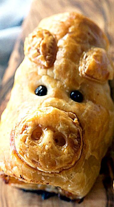 Piggie Rolls - Pork, Bacon and Cheese Sausage Rolls.