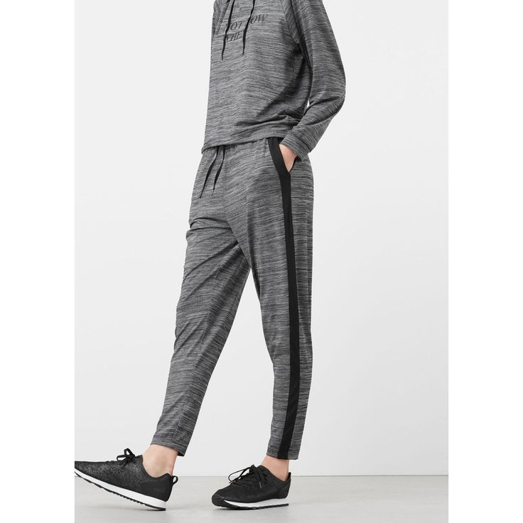 Pantalon training stretch gris chiné foncé Mango   La Redoute mmmmm ?