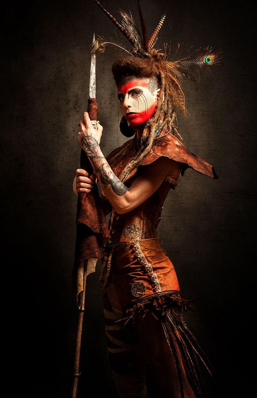"darkbeautymag: ""Photographer: Warped Galerie Stylist: Droops Creation Hair: Marie Ausina Makeup: Audrey Pech Model: Vidaloca """