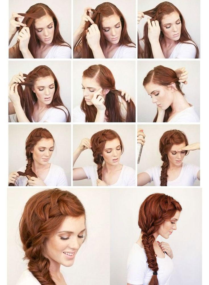 Прически на длинные волосы своими руками с боковой французской косой