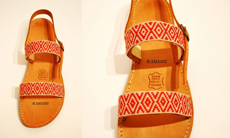 Handmade Leather Greek Sandals Costas Pavlidis, Braids, Ethnic!!! Il Tacco!!!