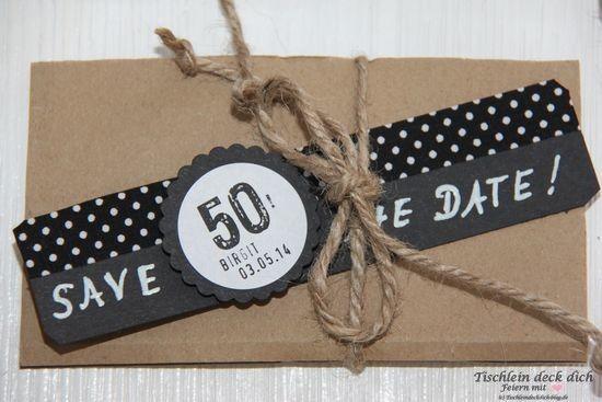 Save the date zum 50. Geburtstag