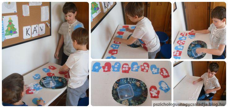 Hány hópehely hullik a kesztyűre? Ötlet és nyomtatható (Idea and printable): http://www.stirthewonder.com/mitten-math-snowflake-counting-preschoolers/