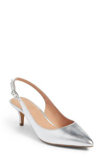 c931ef188 A poised kitten heel lends just-right height to a sophisticated sling-back  pump in a pointy toe silhouette. | Women's Shoes | Slingback pump, Heels,  Women's ...