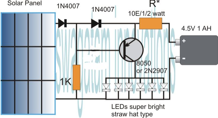 Homemade Circuit Projects: Simplest Automatic LED Solar Light Circuit - Solar Garden Light