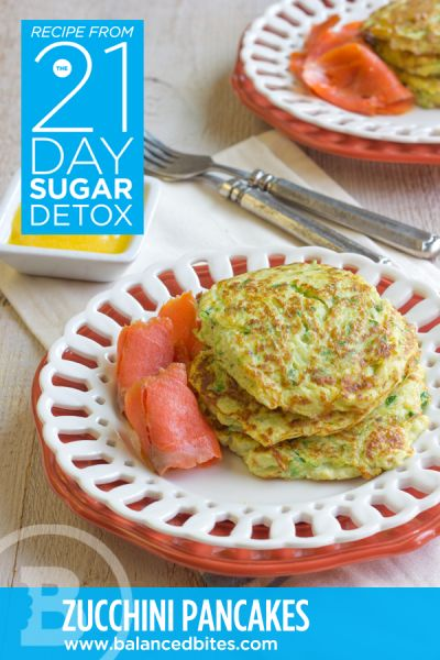 Easy Recipe: Grain-Free Zucchini Pancakes #BalancedBites