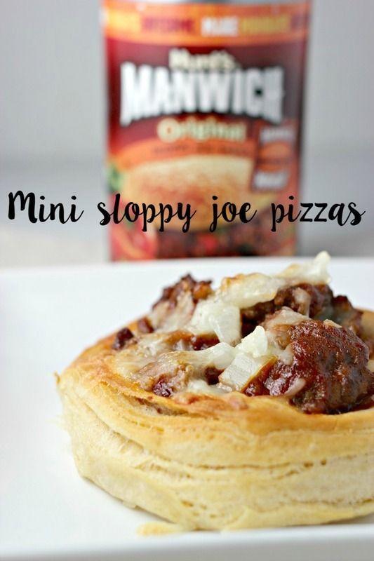 Incredibly Easy Mini Sloppy Joe Pizzas Recipe