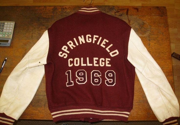 Vintage 1969 Springfield College Varsity Letterman Jacket