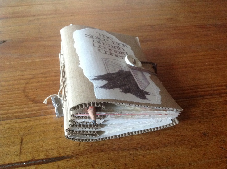 The ultimate anti establishment journal, no batteries, no recharging, no rebooting required, with pencil, sharpener and eraser attached you can journal freely anywhere anytime....hand stitched by Gabriela.