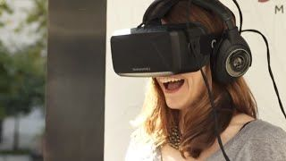 Watch as couples (just married at New York City Hall) experience a virtual honeymoon via Marriott Hotels virtual travel experience. The technology uses live-action video and a mix of CGI and 4-D to take these newlyweds on a virtual honeymoon to London and Hawaii. Learn more at...