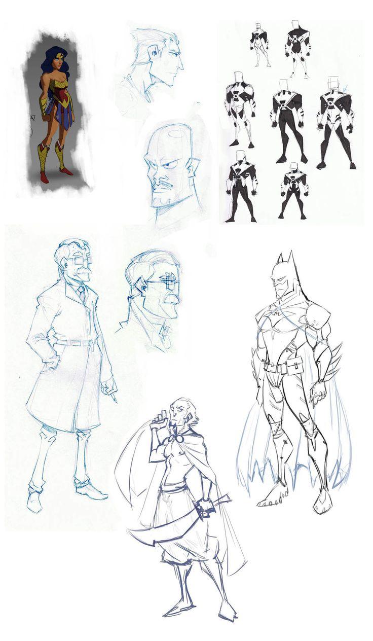 Pixar Style JUSTICE LEAGUE Characters — by Daniel Araya GeekTyrant