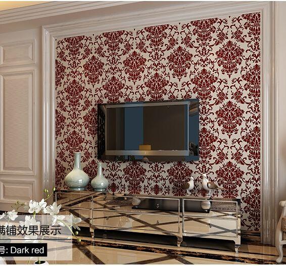 Aliexpress Com Buy High Quality Thick Flocked Modern: 1000+ Ideas About Velvet Wallpaper On Pinterest