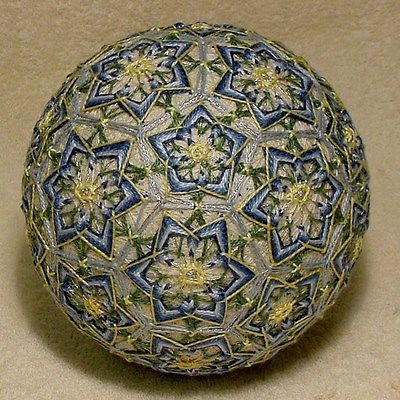 Japanese-Temari-Ball-My-Mothers-Flowers-Margaret-1902-1948