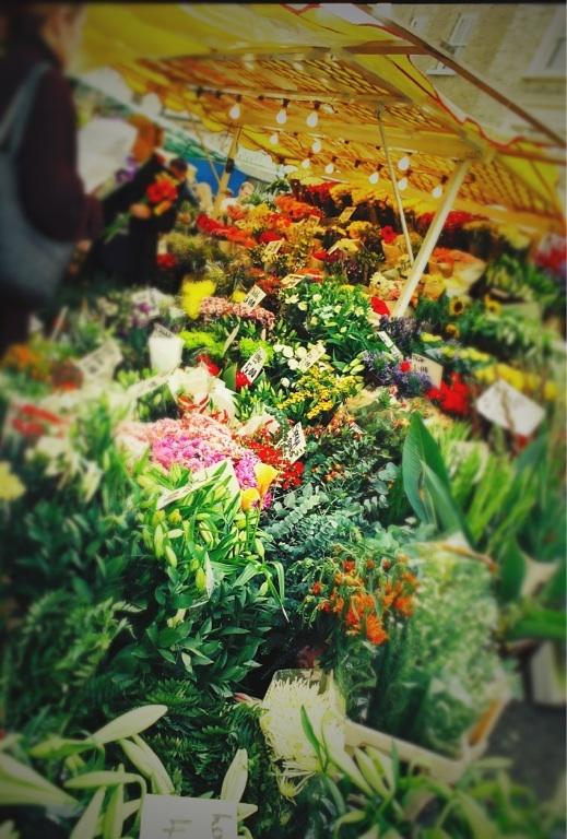 Flower Market Portabello Road, by Kate Bergmann