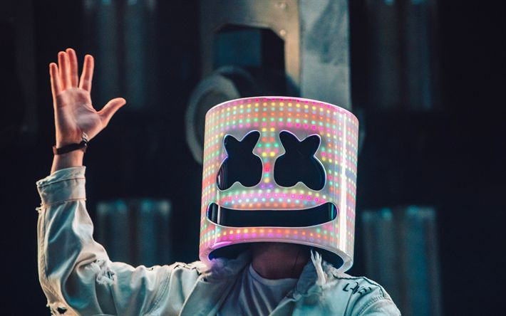 Download wallpapers Marshmello, DJ, night club, superstars, concert, DJ Marshmello