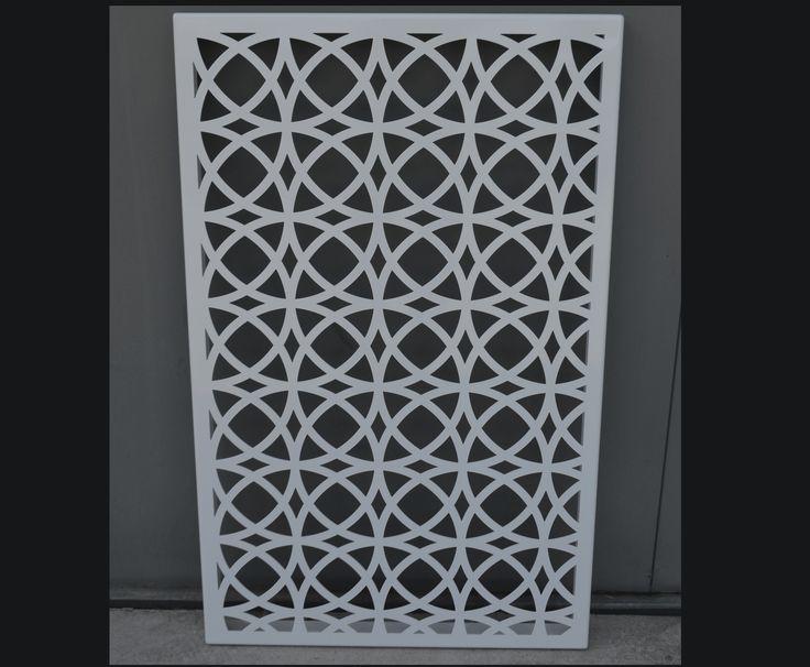 Laser cut decorative screens metal screens decorative for Metal garden privacy screens