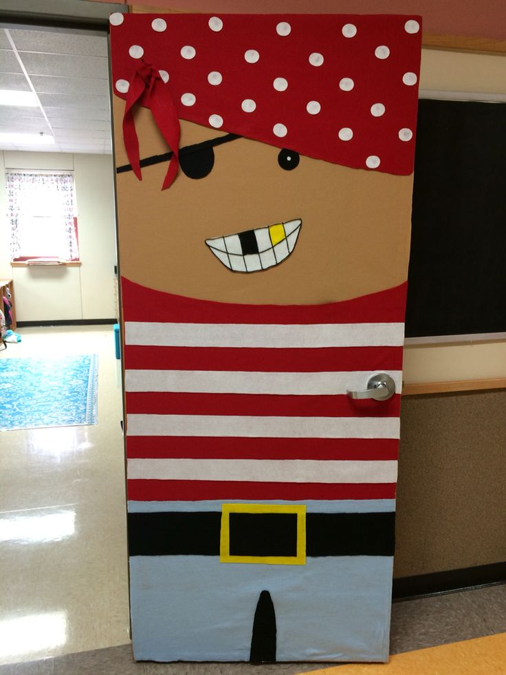 Arrrgh you ready for second grade?! Pirate door for a nautical classroom!