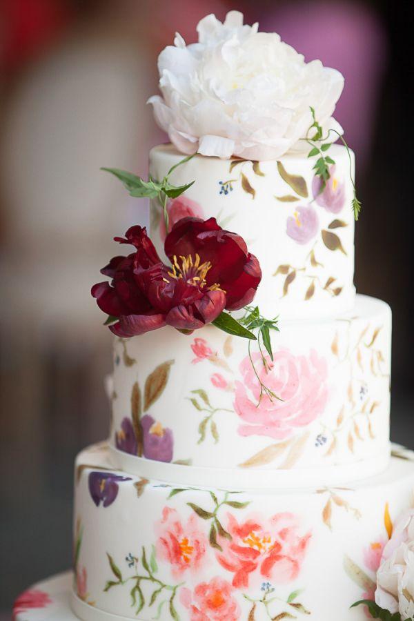 ръчно рисувани сватбени торти