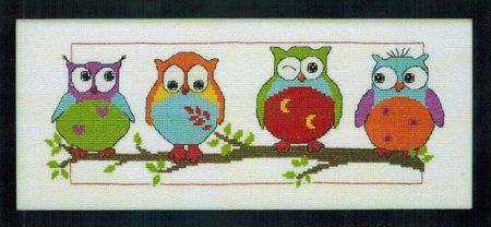 Owl Friends - Cross Stitch Kit