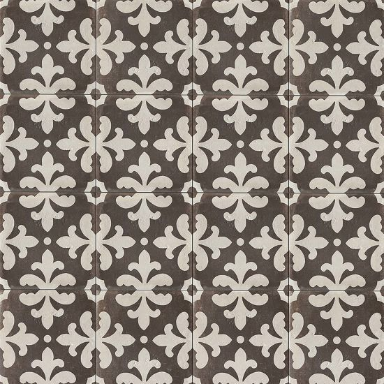 Palazzo 12 X 12 Decorative Tile In Castle Graphite Florentina Decorative Tile Ceramic Tile Floor Bathroom Tiles