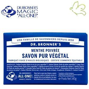 Dr. Bronner's Magic Soaps - Pain de Savon Pur Végétal Menthe Poivrée Disponible dans l'e-shop www.officina-paris.fr #officina #paris #eshopping #beaute #pain #barsoap #vegetal #solide #cosmetiques #savon #douche #gel #liquide #bio #naturel #fairtrade #drbronner #drbronners #magicsoap #soap #organic #vegan #equitable #argrumes #orange #citrus #fresh #rose #peppermint #menthepoivree #amande #arbreathe #teatree #eucalyptus #lavande