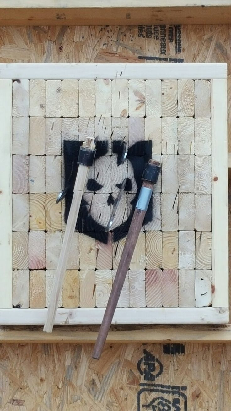 Tomahawk and throwing knife target.