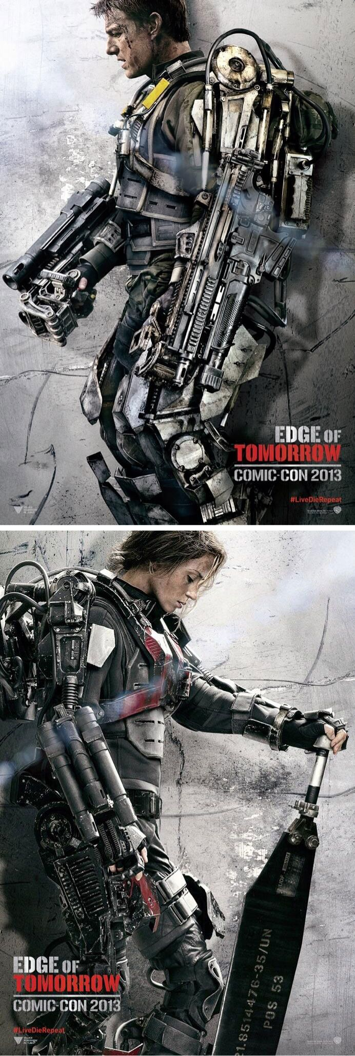 EDGE OF TOMORROW : Character poster de Tom Cruise et Emily Blunt. Sortie 28.05.2014 #LBDC