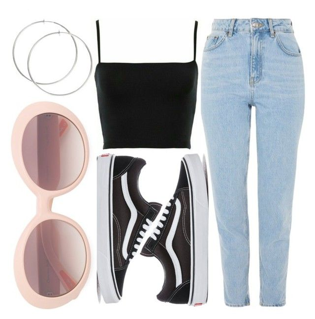 """T X M B L R"" by liaperezmorales on Polyvore featuring Topshop, Vans and Christian Roth"