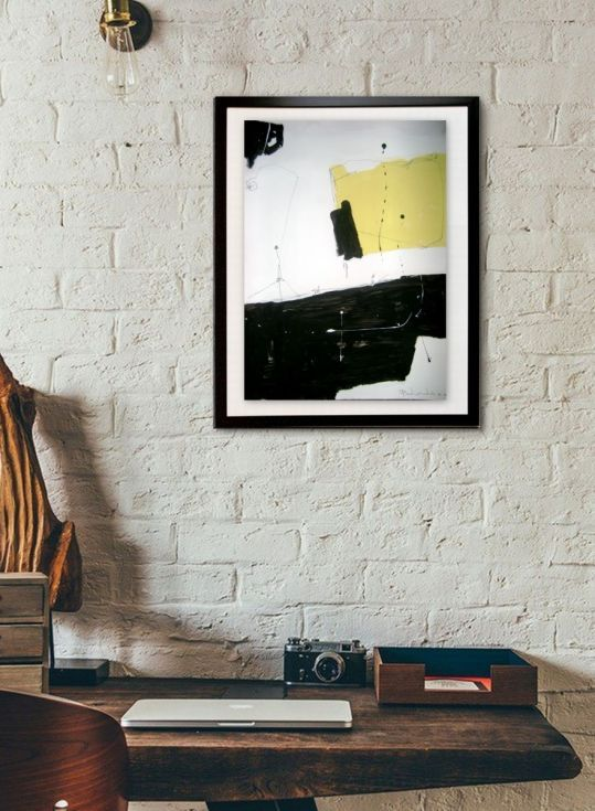 Buy Yellow No 143, Abstract paper collection, Acrylic painting by dimitris…