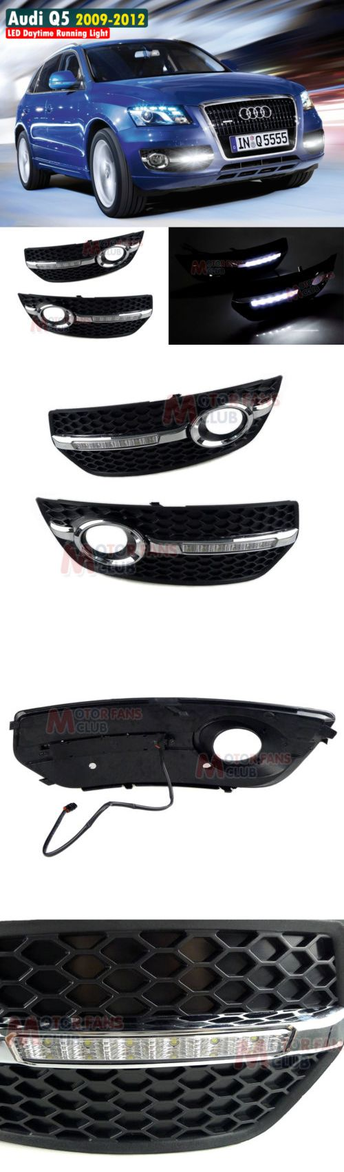 Motors Parts And Accessories: New Led Daytime Running Light For Audi Q5 Fog Driving Drl 2009 2010 2011 2012 BUY IT NOW ONLY: $158.18