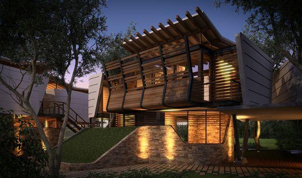 Villas Tarabini is located in Playa del Carmen, Mexico | Architect: Sanzpont Arquitectura.