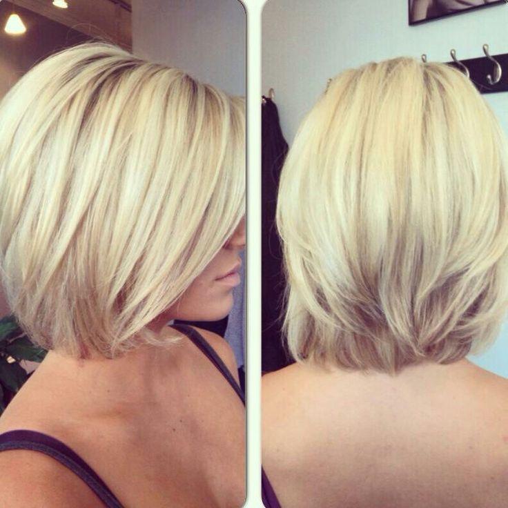 Platinum Blonde Bob Hair color and Haircut